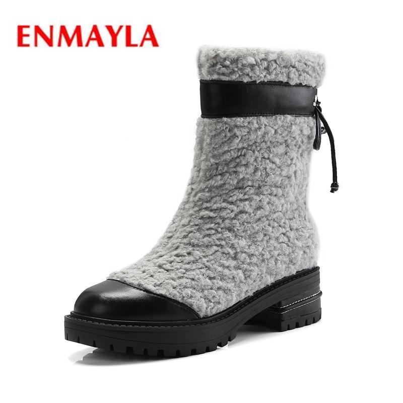 dd94c24f4160c Acheter ENMAYLA Bout Rond Base Cheville Enfant Chaussures En Daim Femme  Bottines Pour Femmes Bottes Talon Carré Hiver Taille 34 39 ZYL1927 De   82.39 Du ...
