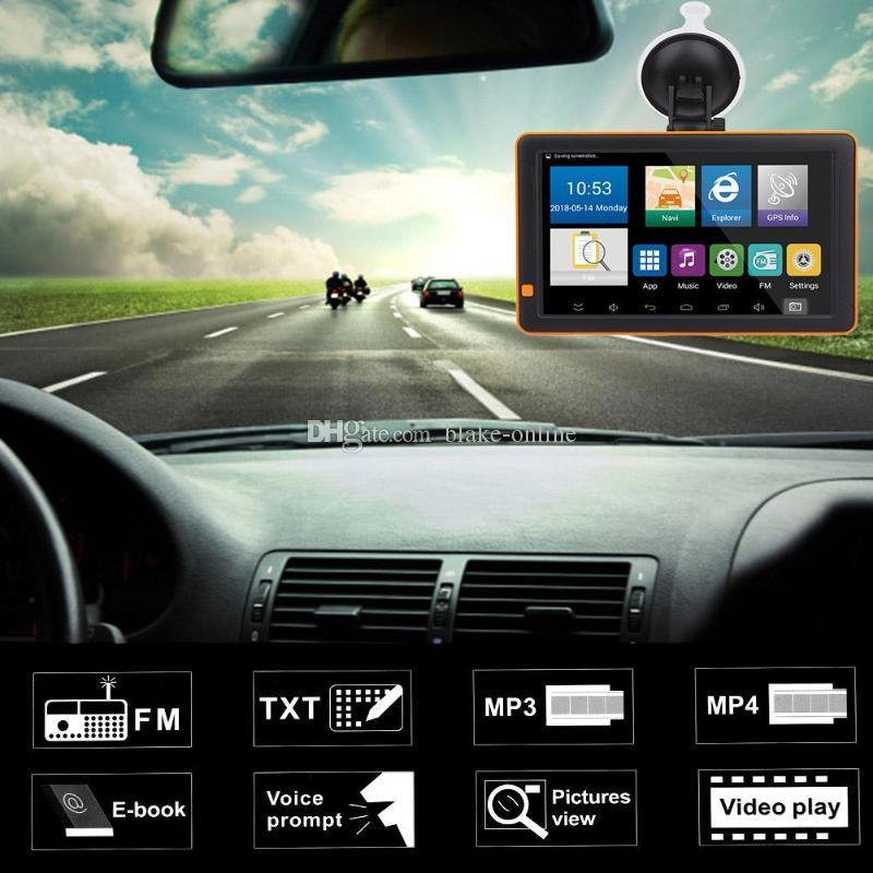 HD 9 inch Auto GPS Touch Screen Truck Tablet Car GPS Navigation 8GB Lifetime Map Built-in Bluetooth AVIN FM Transmitter Function