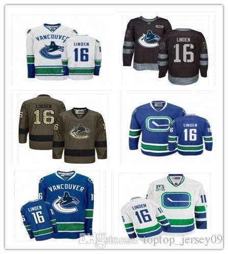 2018 Vancouver Canucks Jerseys  16 Trevor Linden Jerseys Men WOMEN ... 939a74902