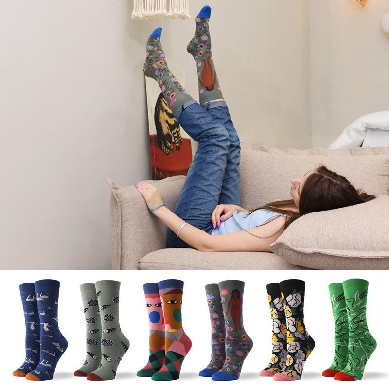 79d3771ea591 Mens Dress Socks Men's Fun Funky Cool Fancy Novelty Casual Colorful Cotton  Animal Pattern Long Dress Crew Socks
