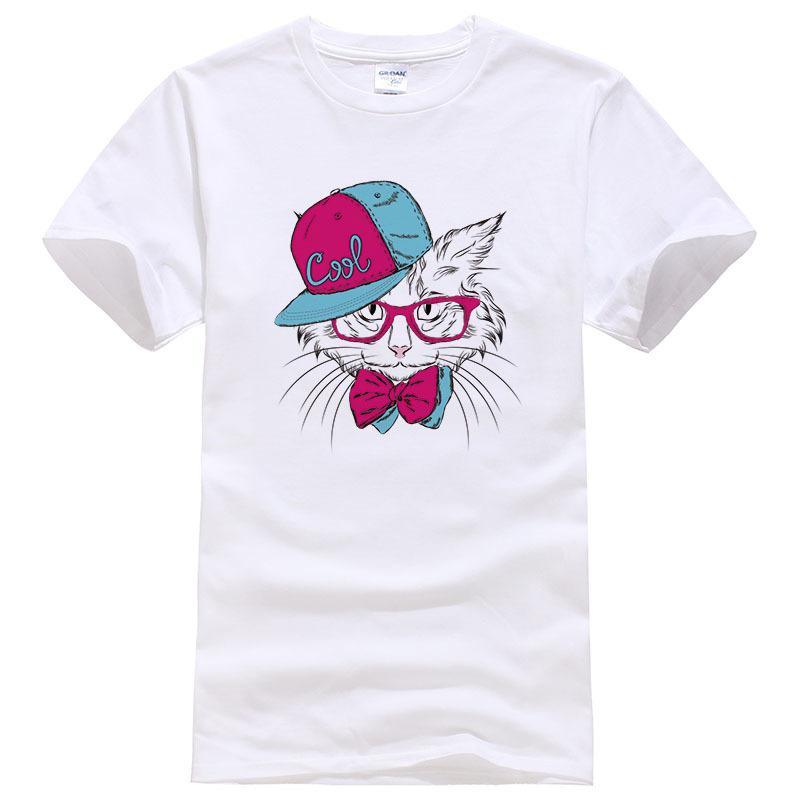 0ff6de6f Wear A Hat Of Handsome Cat Printed T Shirts 2019 Men Women Cartoon T Shirt  3d Animal Cats Printed T Shirt Harajuku Tshirt #100 Funny Screen Tees Shirts  With ...