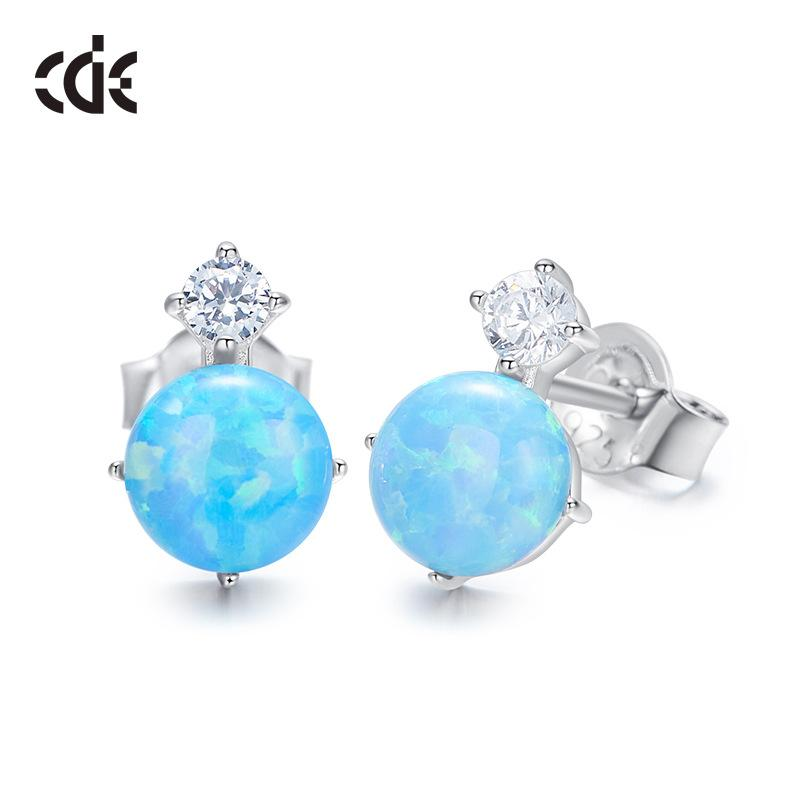 New Opal Aobao Water Drop S925 Silver Ear Nail Earrings