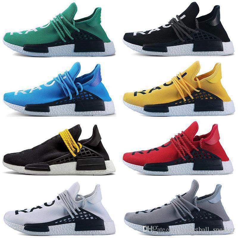 d34dbd649 2019 Size 5 12 Cheap Human Race Men Women Running Shoes Yellow Black White  Grey Red Green Blue Mens Trainers Sports Sneaker On Sale From Wieuqyedw7