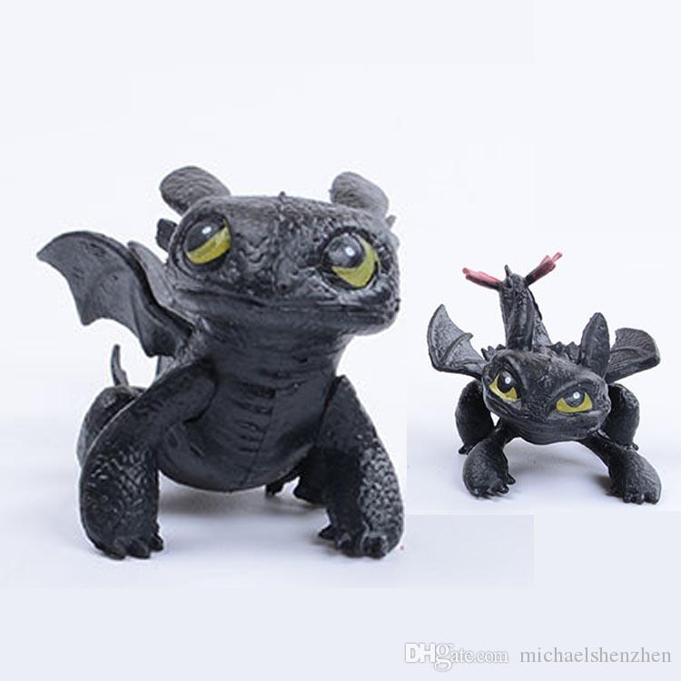 5024bfb0a16 2019 2 Styles How To Train Your Dragon 2 Toys Action Figures Night Fury  Toothless PVC Black Dragon Children Brinquedos Kids Toys C5 From  Michaelshenzhen