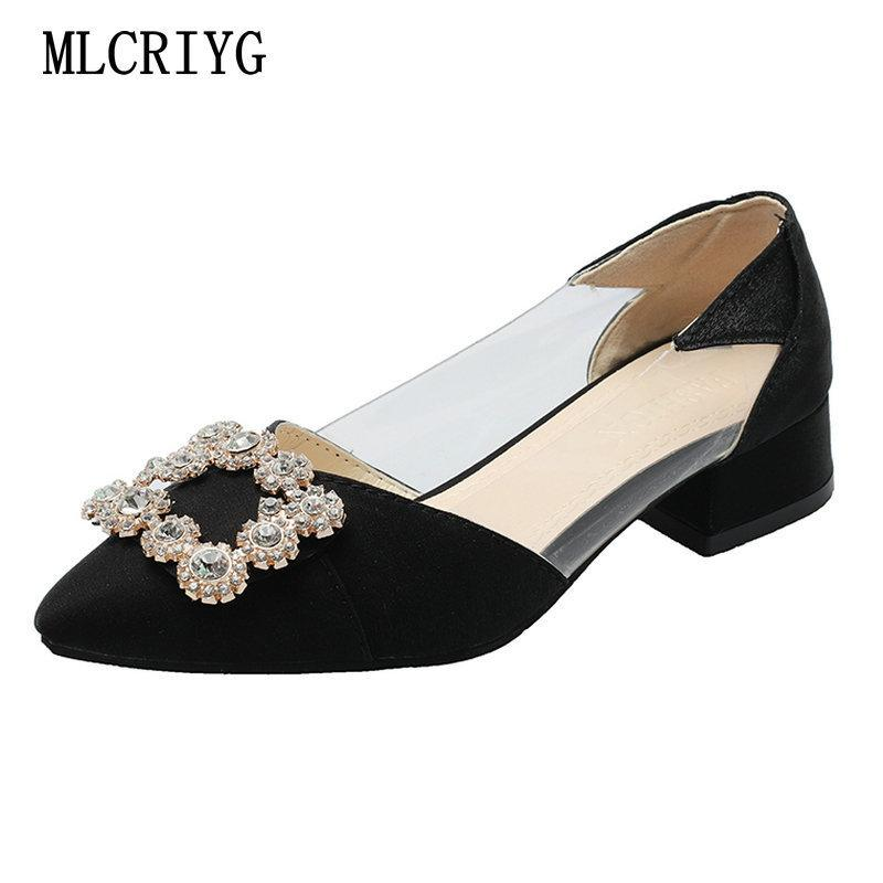 0b315731c4ad3 Dress Size 34 39 2019 New Spring Women Casual Pumps Low Heels Fashion Red Shoes  Woman Comfortable Female Crystal Flats For Jeans Suede Shoes Pumps Shoes ...