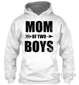Mom Of Two Boys For Mother Short-Sleeve Hoodie Sweatshirt