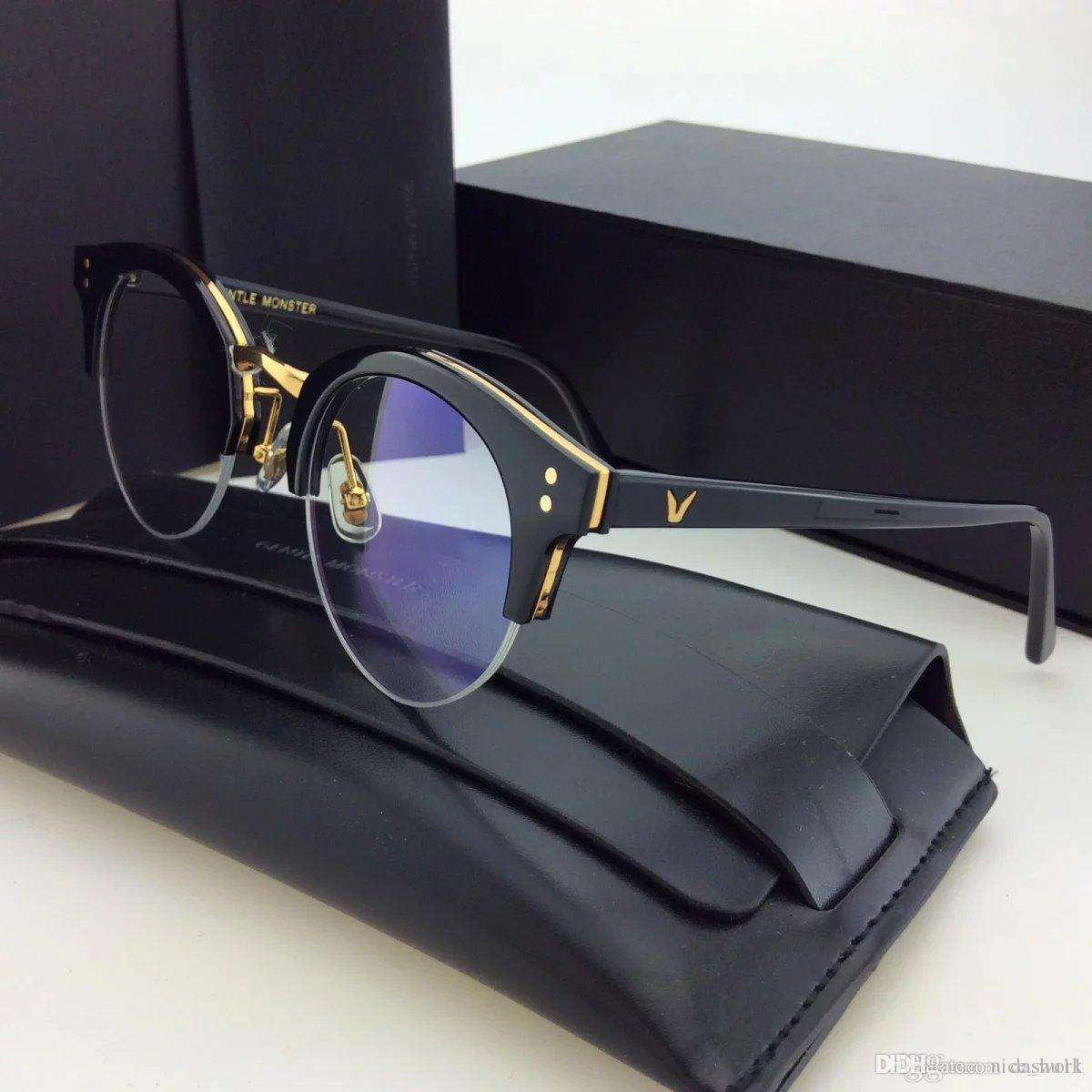 eba24f1463a 2019 Brand Glasses Gentle Pavana Metal Half Frame Glasses Frame Retro  Eyeglass Woman Men Reading Glass UV Protection Clear Lens Computer Eyewear  From ...