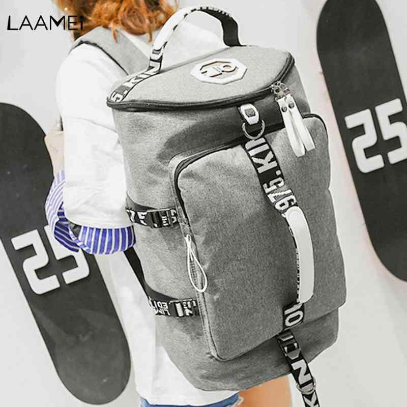 f381fba5cdf Laamei Round Pass Backpack 2018 New Travel Bag Large Capacity  Multi-functionUnisex Backpack Waterproof Canvas Outdoor Backpacks Cheap  Backpacks Laamei Round ...