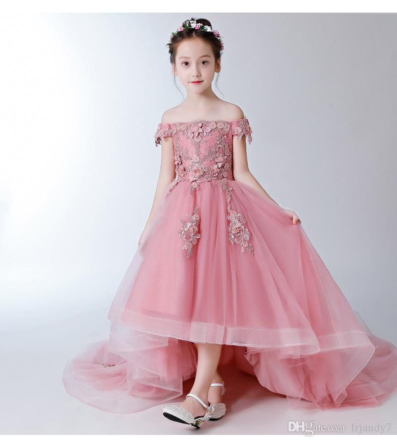 5c8787c03 Off Shoulder Girl S Pageant Birthday Party Dress Beaded Appliques ...