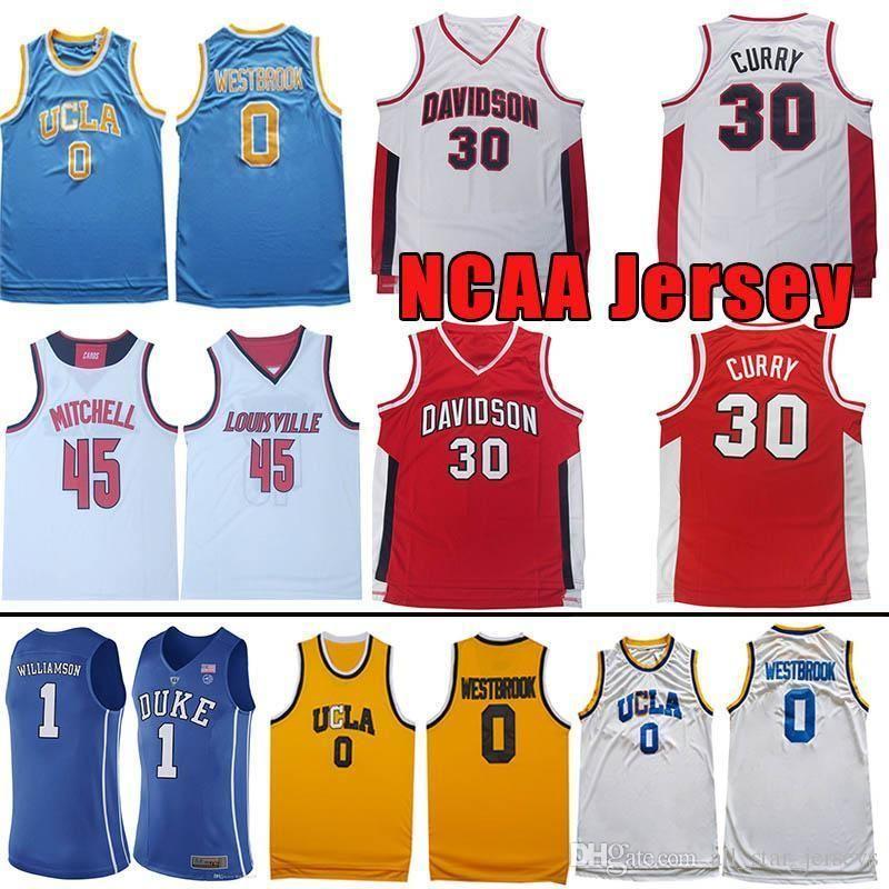 more photos 3f214 e0c6f Ncaa Donovan 45 Mitchell Rudy 27 Gobert Jersey Stephen 30 Curry Russell 0  Westbrook Kevin 35 Durant Ucla University Basketball Jerseys