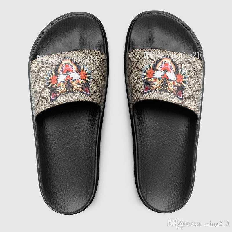 High Quality men women designer sandals Designer Shoes Luxury Slide Summer Fashion Wide Flat Slippery Sandals Slipper Flip Flop
