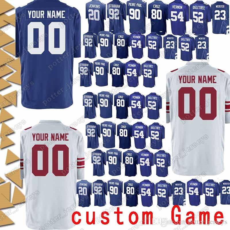 info for 11c80 f2760 New York 56 Lawrence Taylor Jersey Gaint custom Game 92 Michael Strahan 54  Olivier Vernon 11 Phil Simms 5 Steve Weatherford Jerseys