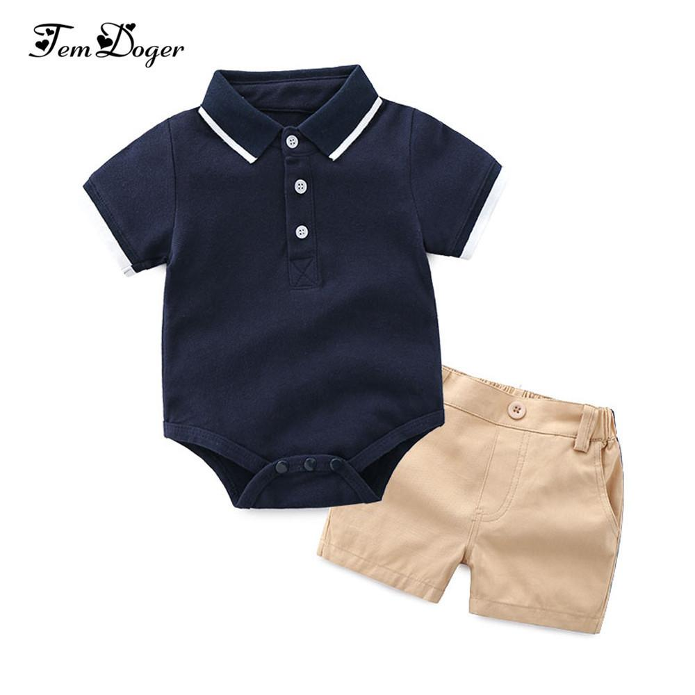 Tem Doger Clothing Newborn Baby Clothes 2pcs Summer Infant Boy T-shirts+shorts Outfits Sets Bebes Tracksuit J190521