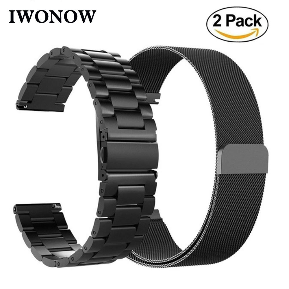 f2468a5d0fa IWonow Milanese Loop   Stainless Steel Watch Band 20mm For Garmin  Vivoactive3 Vivomove Magnetic Watchband Wrist Strap Bracelet Nylon Watch  Bands Metal Watch ...