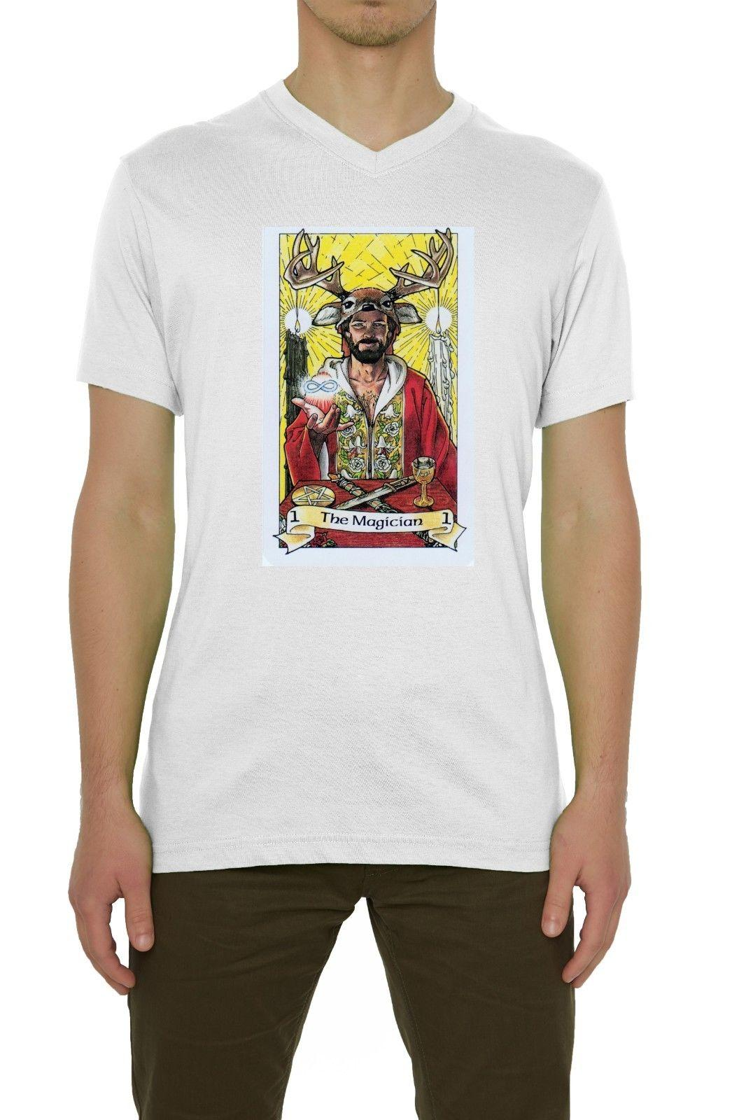 659d03c2ca83ae The Magician Tarot Card Art Logo Men S T Shirt V Neck White S XXL Mens  Pride Dark T Shirt White Black Grey Red Trousers Tshirt Best Designer T  Shirts Funny ...