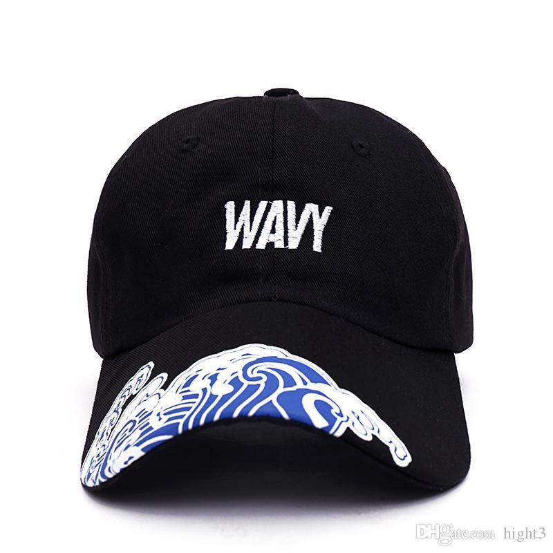6044382bec2 2017 New Men Women Fashion Hip-hop Dancers Hat Waves Visor Baseball ...