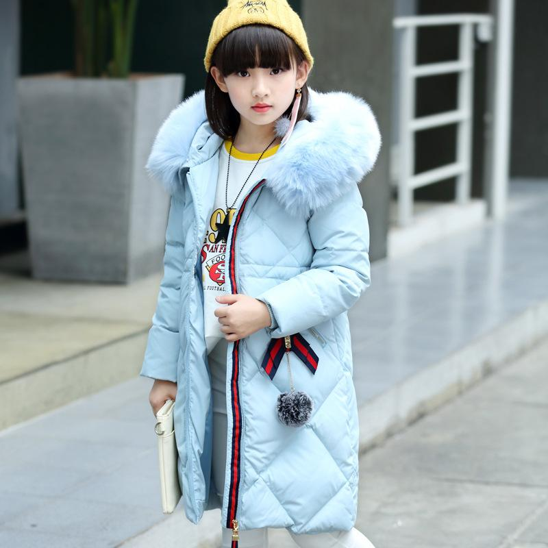 489c08a41 2019 Winter Down Jacket For Girls Thick Long Warm Girls Winter Coat 5 14 Y  Kids Teenage Doudoune Enfant Girls Outerwear Clothes Boys Down Coat Toddler  Down ...