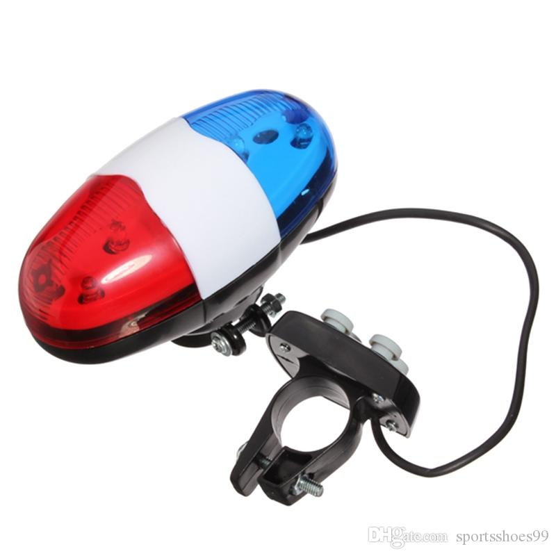 Bicycle 6 Flashing LED 4 Sounds Police Siren Trumpet Horn Bell Bike Rear  Light YS-BUY #225596
