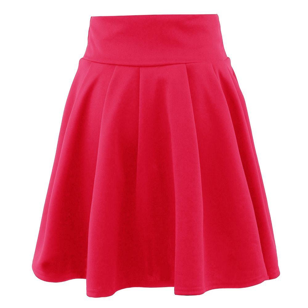 Das mulheres Saia Sólida Das Senhoras Ocasional vestido de baile Mini Saia Curta Cintura Alta Simples Cocktail Party Tutu Saia Faldas Mujer # Z