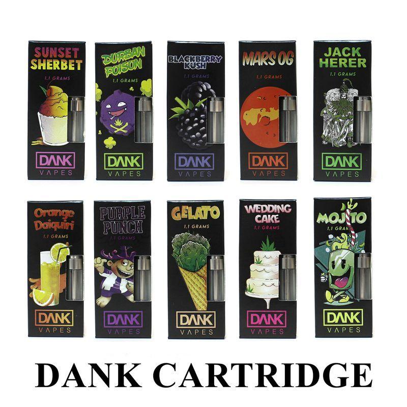 Dank Vapes Cartridge Packaging 0 8ml Ceramic 1 1 Grams Cereal Carts 510  Vape Thick Oil Cartridges New Packaging