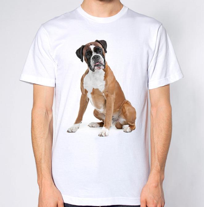 Grosshandel Boxer Dog T Shirt Farbe Jersey T Shirt Mit Print Von