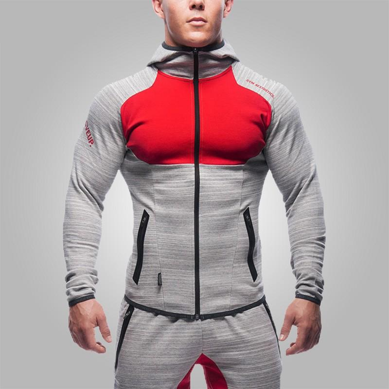 2017 Fitness Men Hoodies Brand Clothing Men Hoody Zipper Casual Sweatshirt Muscle Men's Slim Fit Hooded Jackets