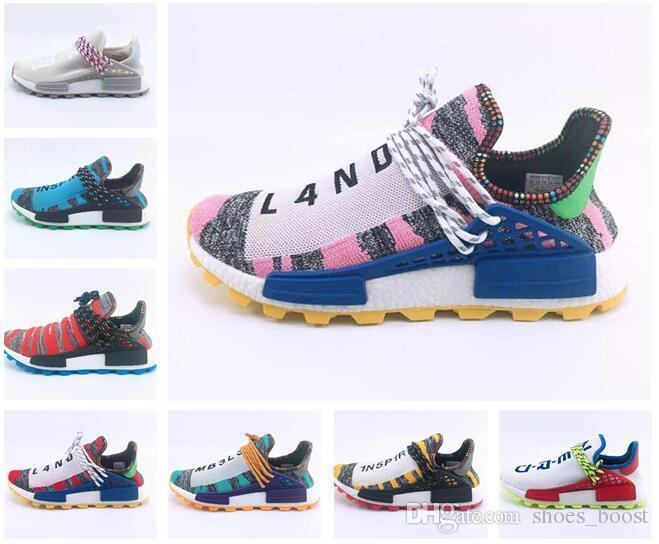 wholesale dealer 0ae19 f0b84 Pharrell Williams Human Race Nerd Solar Pack Running Shoes Pharell Williams  Hu Trail Human Races Equality Mens Women Sports Sneakers Us13