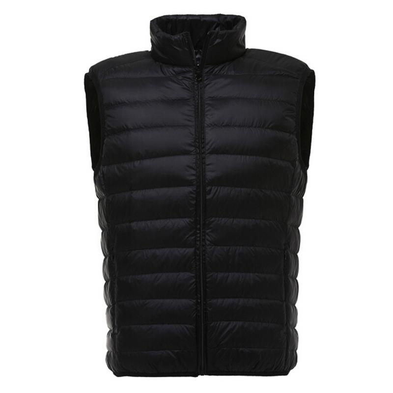 68beacb816b Vest Men Duck Down Vest Jacket Mens Winter Casual Sleeveless Jackets  Ultralight Down Vests Colete Masculino Outwear Waistcoat