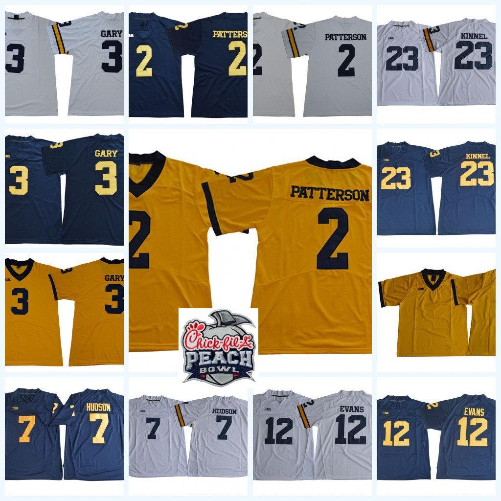 reputable site 8dd89 0d284 Mens NCAA Michigan Wolverines Rashan Gary Football Jersey Khaleke Hudson  Chris Evans Tyree Kinnel Shea Patterson Michigan Wolverines Jersey