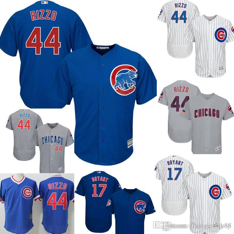 8a7cc2547 2019 Chicago Top Cubs 44 Anthony Rizzo Jersey Men S Majestic Home Player  Jersey Embroidery Baseball Jerseys M XXXL Cheap Sales From Big red shop