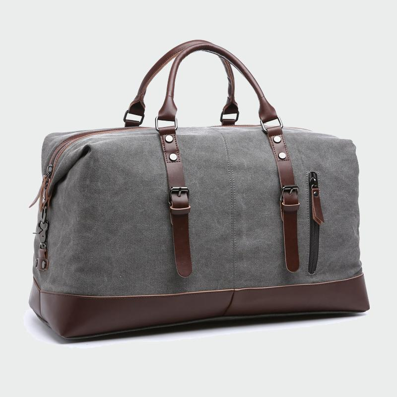 Canvas Leather Mens Bags 22'' Travel Luggage Bag Men Duffel Travel Tote Large Weekend Bag Overnight Big duffle Handbag ML101