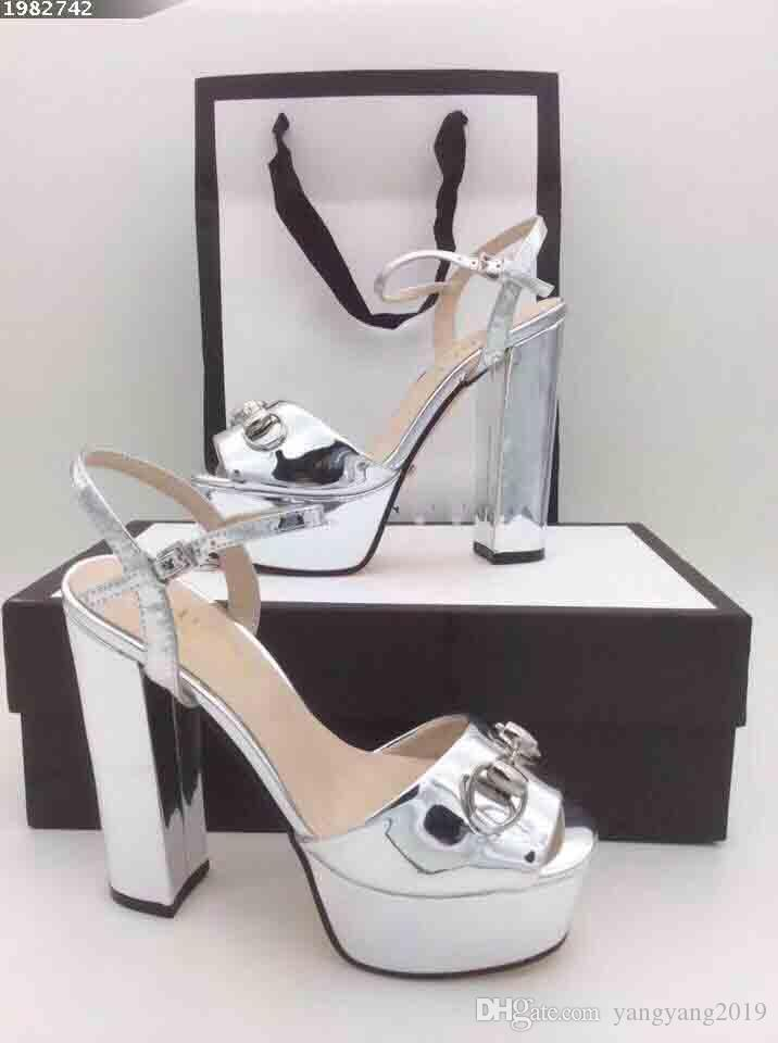 Hot style women's high-heeled sandals, luxury women's most comfortable high-heeled sandals, patent leather high-heeled sandals,size:35-40