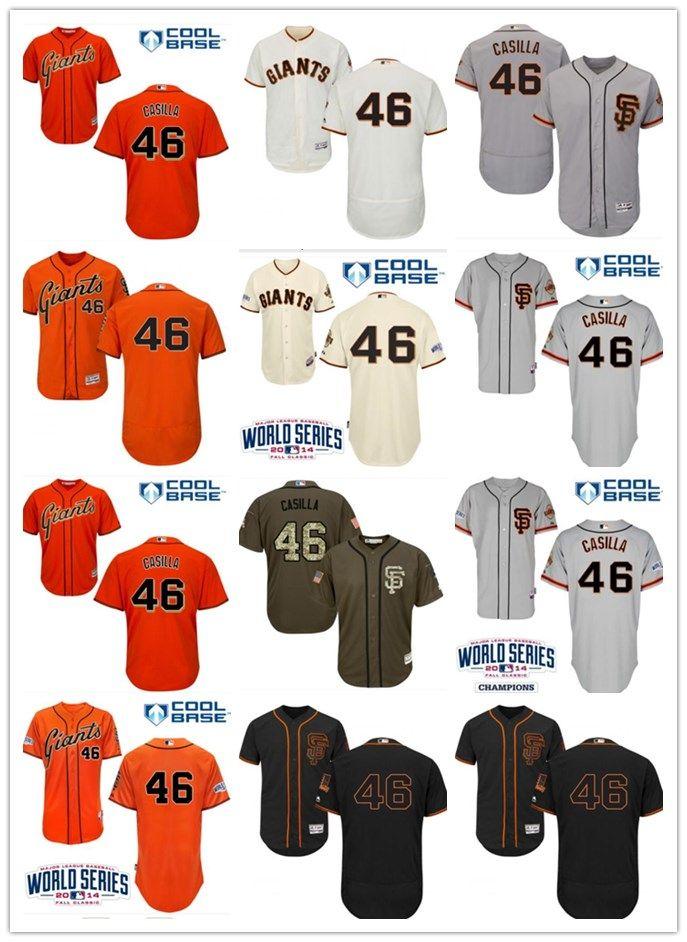 info for 4692d e6b37 2018 top San Francisco Giants Jerseys #46 Casilla Jerseys  men#WOMEN#YOUTH#Men s Baseball Jersey Majestic Stitched Professional  sportswear