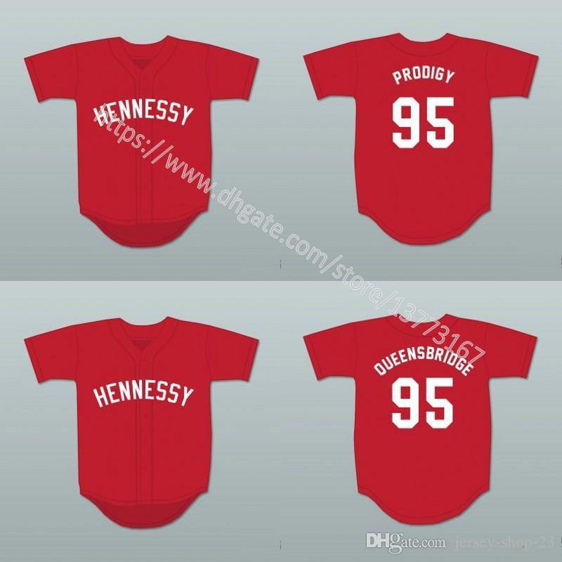 0ea1e9ebd12 ... Red Baseball Jersey Prodigy 95# Queensbridge Jerseys Hennessy Prodigy  Queensbridge Online with $37.87/Piece on Jersey-shop-23's Store   DHgate.com