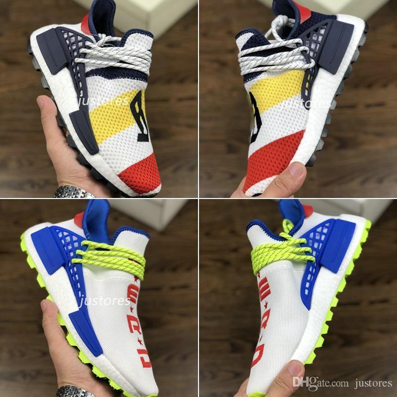 promo code 70fd6 749d1 2018 New Limited NERD BBC Pharrell Williams Human Race Hu Trail Sneakers  Homecoming Heart Mind Run Shoes Men And Women Designer Shoe