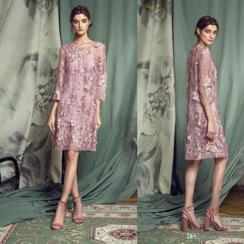 e14133d757 Papilio 2019 Mother Of The Bride Dresses Lace Appliques Long Sleeves Suits  Evening Gowns Knee Length Wedding Guest Dress Mother Of The Groom Dresses  Canada ...