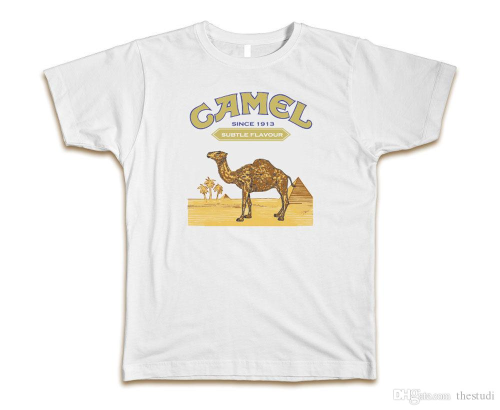 1929c9d513a Camel Cigarettes Men S White T Shirt Ships Fast! Awesome Quality! Offensive T  Shirts Sports T Shirts From Thestudi