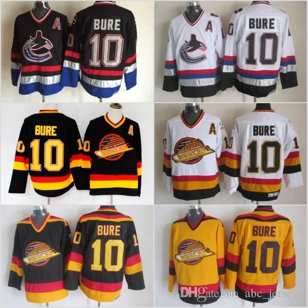 c7ba803bf02 2019 Men Vancouver Canucks Ice Hockey Jerseys Cheap 10 Pavel Bure Vintage  Authentic Stitched Jerseys From Abc jerseys