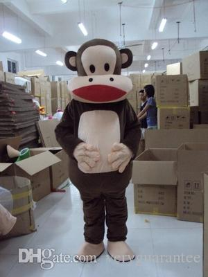 Naughty monkey Mascot Costume Cartoon Apparel Halloween Birthday