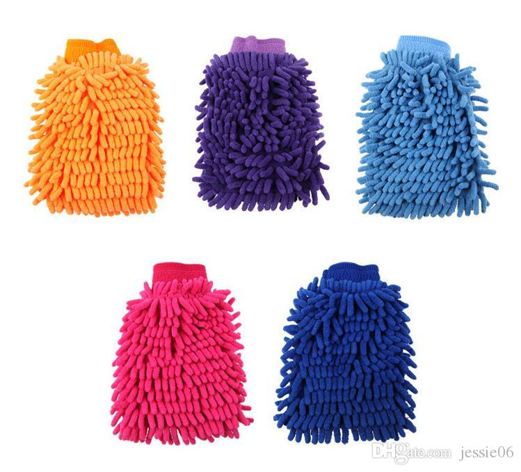 Chenille Microfiber Scratch-Free Car Wash Mitt Double Sided Household Cleaning Tools Cleaning Gloves Organization Mitts thick hot