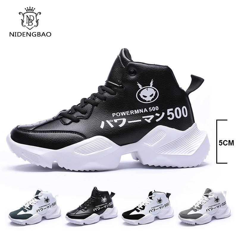 High Top Sneakers Clunky Uomo Fashion Design Uomo Scarpe casuali lace up traspirante papà scarpe da ginnastica Zapatos Hombre Sapatos