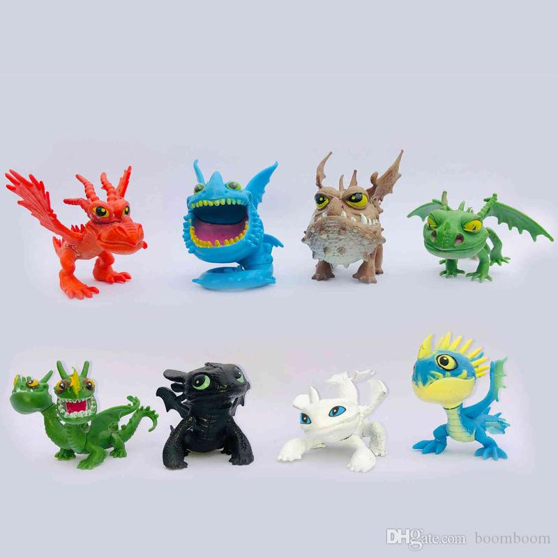 How to Train Your Dragon2 PVC Action Figures Toy Doll NightFury Toothless Dragon by boomboom