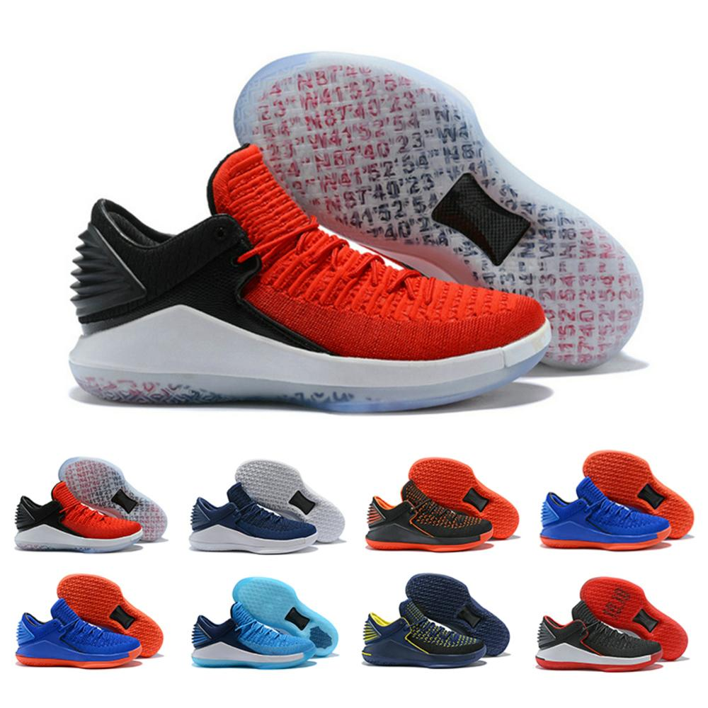 Sale Hot Brand 32 Zoom Basketball Shoes Low For Men Well Wrapped Knitting Vamp Rigid Heel Tpu Training Shoes Black Orange