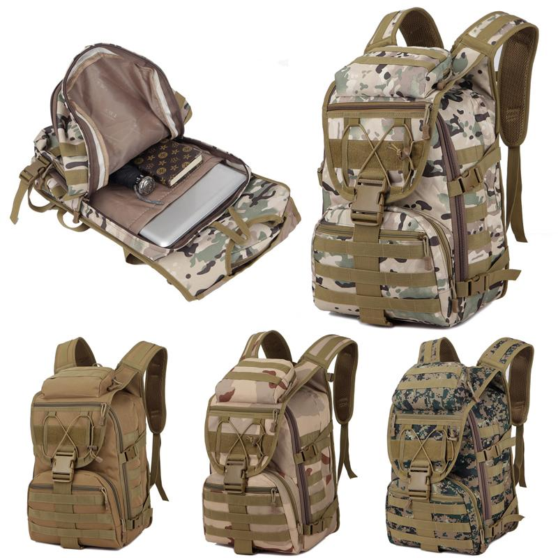 fc67f42188d6 2019 Outdoor Camouflage Bag 4 Styles Hiking Climbing Tactical Backpack  Waterproof Military Rucksacks Travel Mountaineering Bags 36 51 20cm M40F  From ...