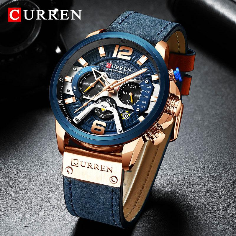 7dc7ee7cc Top Brand Luxury Curren Chronograph Mens Watches Waterproof Sport Quartz  Watch Men Clock Man Wristwatch Famous Relogio Masculino Y19052103 Watches  Deal ...
