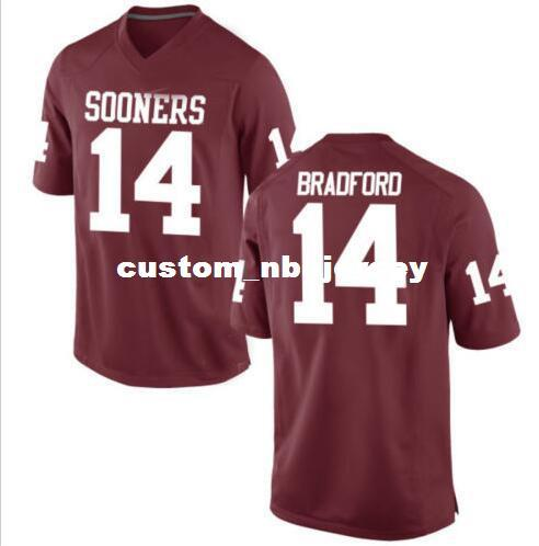 lowest price e4321 6f6b8 Cheap wholesale Sam Bradford Oklahoma Sooners Football Jersey - Crimson  New!! Sewing custom any number name football jersey