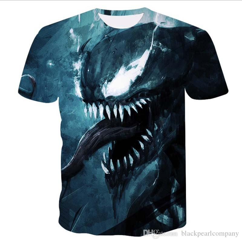 Venom Men T Shirt Superhero Cool Anime Camiseta Homme 100% Cotton Originality Comic T-shirt M-3XL Free Shipping