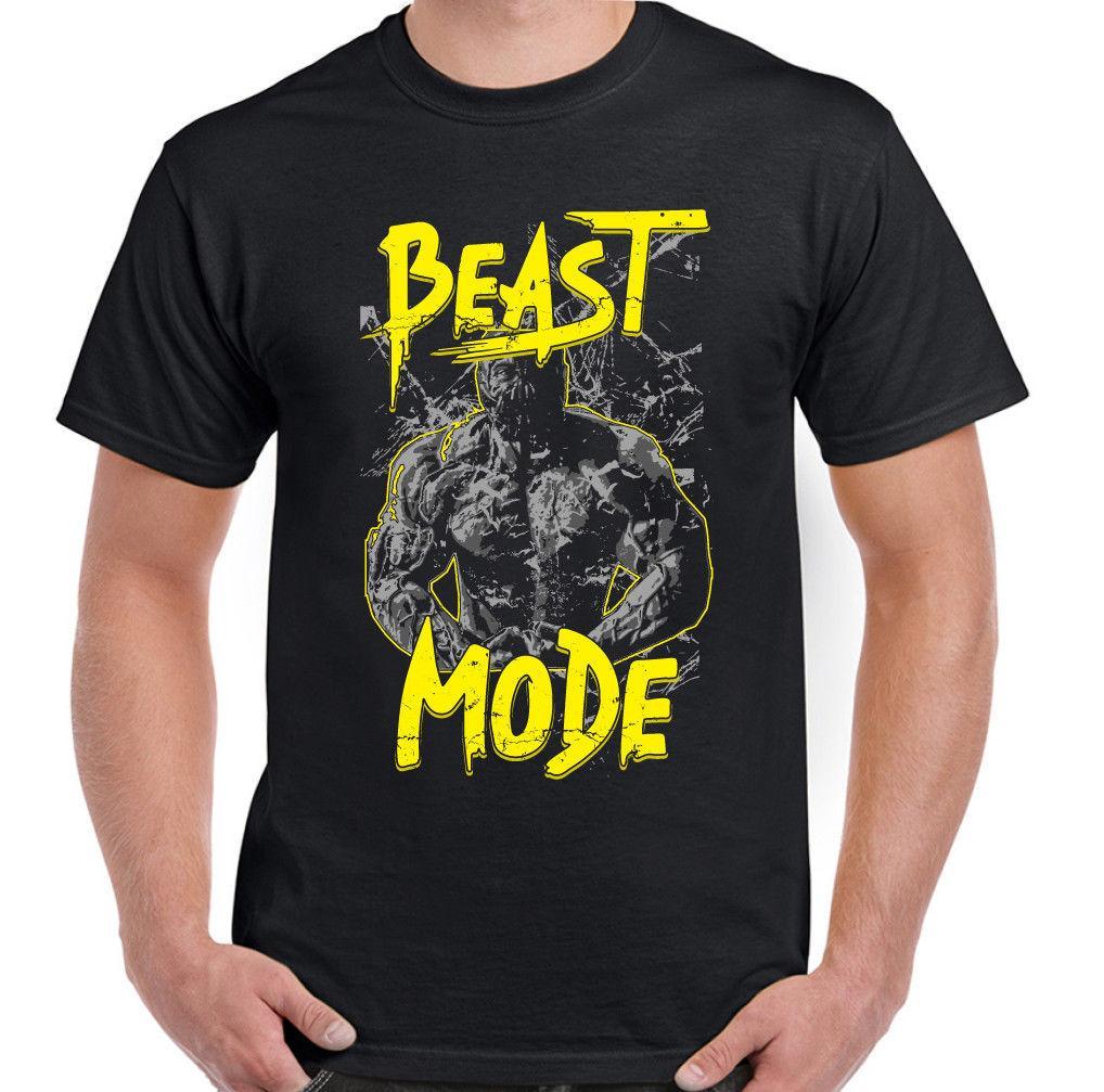 4a10183d Beast Mode Mens Gym T Shirt Training Top MMA Bodybuilding Weights  Weightlifting Custom Jersey T Shirt Classic Quality High T Shirt Print On T  Shirt Cheap ...