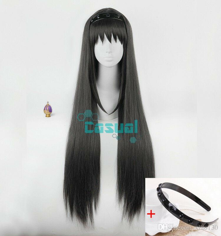 Akemi Homura Puella Magi Madoka Magica Long Black Straight Cosplay Wig +  Cap Discount Synthetic Wigs Freetress Wigs From Xiao130 8d2626d51cc3
