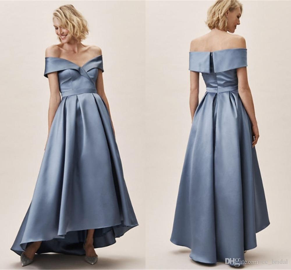 e22fdf9fb2 Sexy Off Shoulder A-line Bridesmaid Dresses 2019 With Ruffled Long Dress  for Wedding Party for Woman Free Shipping robe demoiselle d honneur